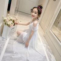 儿童吊带连衣裙女童夏装公主裙沙滩裙长裙