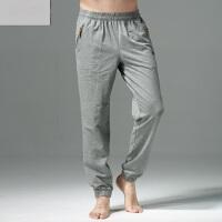 新款大码男士卫裤小脚裤足球训练裤 薄款收腿运动长裤黑色运动裤男