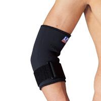 欧比护具723护肘羽毛球健身支撑网球护肘可调节透气 黑色 M(25.4-27.9cm)