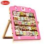 onshine 儿童早教益智木制翻板学习架 26字母  动物认知翻板玩具