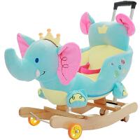 儿童摇木马玩具宝宝摇椅实木摇摇车带音乐周岁礼物