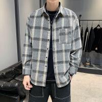 男长袖格子衬衫秋装新款潮流青少年学生休闲衬衣男生寸衣潮款