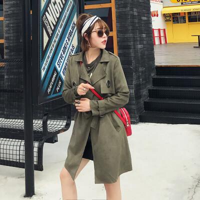 风衣女中长款韩版秋冬装新款鹿皮绒学生外套女百搭修身大衣潮 一般在付款后3-90天左右发货,具体发货时间请以与客服协商的时间为准
