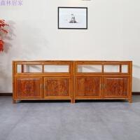 仿古家具1.2米实木展示柜 珠宝柜 矮柜 实木柜台 玻璃展示柜