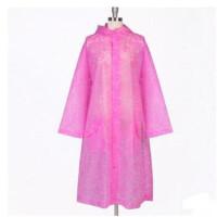 明嘉户外徒步成人雨衣蕾丝连体半透明雨披长款学生雨衣女 MJ-833