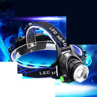 头灯强光可充电变焦头戴式手电筒超亮夜钓捕鱼灯锂电矿灯 TD6超100W T6灯泡亮度强