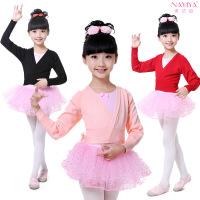 儿童舞蹈服毛衣女童秋冬季针织衫条纹练功服外套开衫加厚披肩