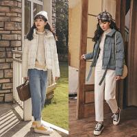 短款女冬装2019年新款韩版宽松加厚外套学生棉衣小个子面包服