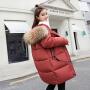 【限时抢购】可卸帽保暖棉服女中款冬装外套棉袄修身加厚大毛领大码胖妹妹棉衣