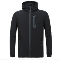 夏季男士运动户外风衣超薄透气韩版帅气防晒衣潮流外套皮肤外套男 黑色(PC-AF9999)