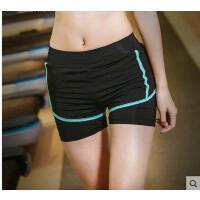 跑步运动裤假两件速干裤女休闲运动裤子弹力紧身短裤显瘦健身裤支持礼品卡支付