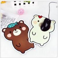 卡通小熊鼠标垫 防滑鼠标垫 电脑周边创意礼品