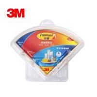 3M 高曼 无痕防水三角置物架挂钩 抗湿气粘得牢 不伤墙面 承重3kg