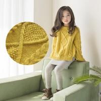 韩版女童上衣秋冬款2017新童装中大儿童加厚保暖针织套头毛衣外套