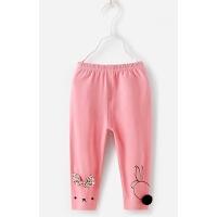 女童裤子春秋 薄款1-6岁2小儿童夏季九分婴儿春夏3-5女宝宝打底裤