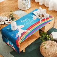 北欧茶几布长方形客厅餐桌布布艺台布家用盖布现代棉麻小清新