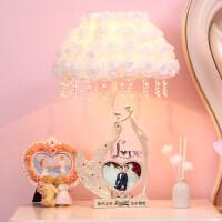定制实用结婚礼物创意家居摆件新婚礼品送闺蜜朋友卧室装饰品台灯 XR-061-D 奶白色(台灯款)