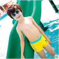 儿童泳裤男童男孩平角抗氯游泳短裤舒适时尚可爱海绵宝宝
