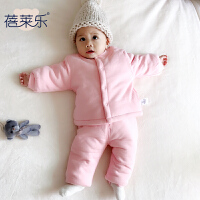婴儿套装春秋款6女宝宝3个月新生儿秋季秋装长袖男开衫睡衣家居服