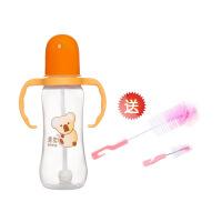 Hito喜多母婴用品批发标准口径葫芦型手把吸管PP奶瓶240ml