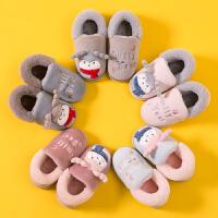 儿童棉拖鞋女童秋冬季男童宝宝室内家居家用可爱卡通亲子棉鞋