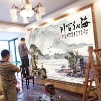 中式电视背景墙壁纸卧室客厅墙纸简约现代装饰定制壁画8d影视墙布 仅墙纸