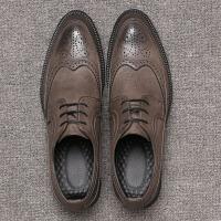 秋季男鞋子英伦雕花皮鞋男潮流百搭男士休闲鞋韩版厚底布洛克潮鞋
