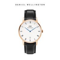 【赠送同款表带】DanielWellington丹尼尔惠灵顿dw女士手表34mm蓝针日历石英手表