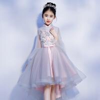 公主裙女童礼服春夏新款 婚纱花童礼服小主持人生日演出服蓬蓬裙