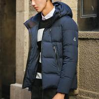 新款冬季男装外套羽绒衣服男士羽绒服男立领修身短款青年加厚