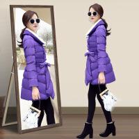 女中长款冬装新款女装韩版修身时尚棉衣外套棉袄