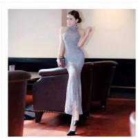 蕾丝长裙包臀鱼尾裙修身连衣裙女长款婚礼晚宴年会舞台演出礼服裙