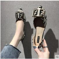 凉鞋女尖头平底单鞋女韩版百搭浅口平跟时尚网红女鞋