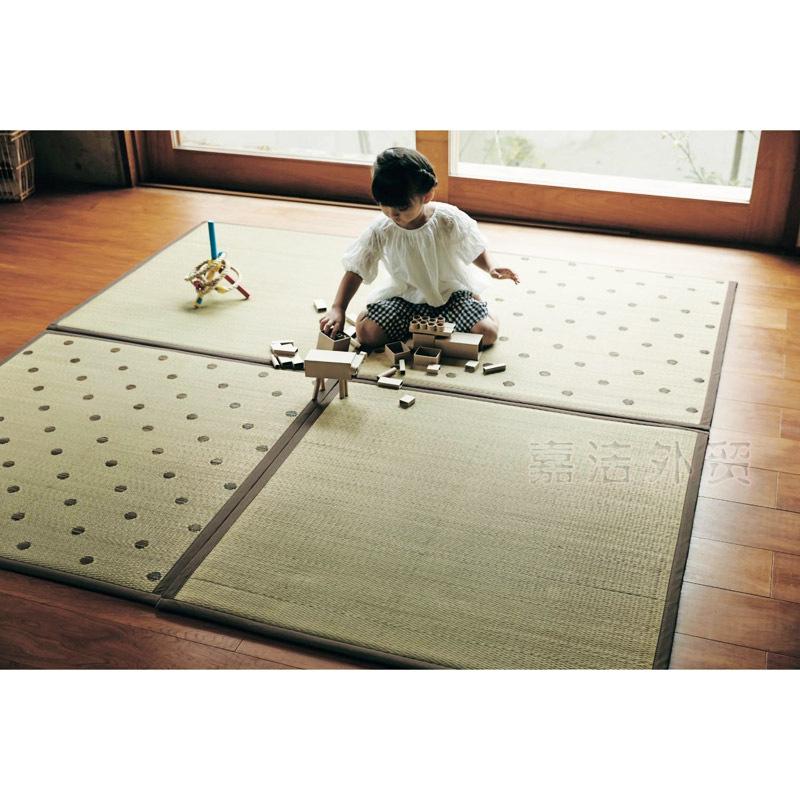 日式可拼接榻榻米地垫夏季蔺草席客厅地毯儿童爬行垫拼图垫瑜伽垫  95*95cm 发货周期:一般在付款后2-90天左右发货,具体发货时间请以与客服协商的时间为准