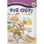 英文原版绘本 PIG OUT! 汪培�E1一阶段 All Aboard Reading 狼吞虎咽