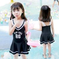 儿童泳衣女孩韩版连体裙式中大童游泳衣公主学生韩国女童泳装