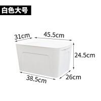简约塑料收纳箱有盖衣柜衣物收纳盒杂物大号整理箱衣橱衣服储物箱 带盖防尘/可叠加