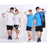 男女羽毛球服套装 情侣运动服羽毛球衣 乒乓球训练比赛服