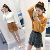 秋装新款潮时尚气质小个子矮显高女装毛衣两件套装裙子秋冬装