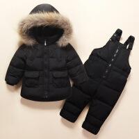 宝宝羽绒服套装女1-3岁婴儿童男童装0-1岁轻薄冬装加厚潮冬反季节