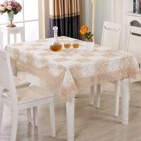 欧式餐桌布茶几台布艺套装 圣诞桌布绣镂空提花系列 T 浅褐色