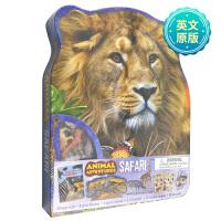 Animal Adventures Safari 动物大冒险 儿童游戏互动童书