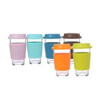 GLASSLOCK/三光云彩 钢化玻璃水杯 办公杯 牛奶杯 380ml 玻璃杯 RC107-1