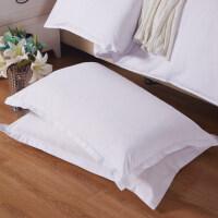 枕套 磨毛压花枕套单人枕头套床上用品一对拍二 48cmX74cm