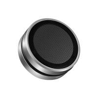 小天新款迷你HIFI重低音炮便携插卡音箱 手机无线蓝牙金属小钢炮 银色