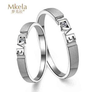 梦克拉  18K金钻石结婚女戒指 缘定今生 可礼品卡购买