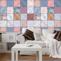 物有物语 厨房防油贴纸 大理石纹路任意搭配瓷砖贴 拼接墙贴画 家居客厅卧室