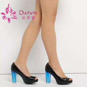 达芙妮女鞋 时尚鱼嘴单鞋春季鞋1014102053