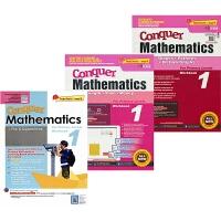 【预售】SAP Conquer Mathematics 1 攻克系列一年级数学 四则运算 长度时间金钱 形状结构图表