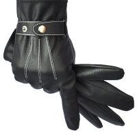 皮手套男士冬季2017皮手套保暖薄款内衬男骑车户外手套